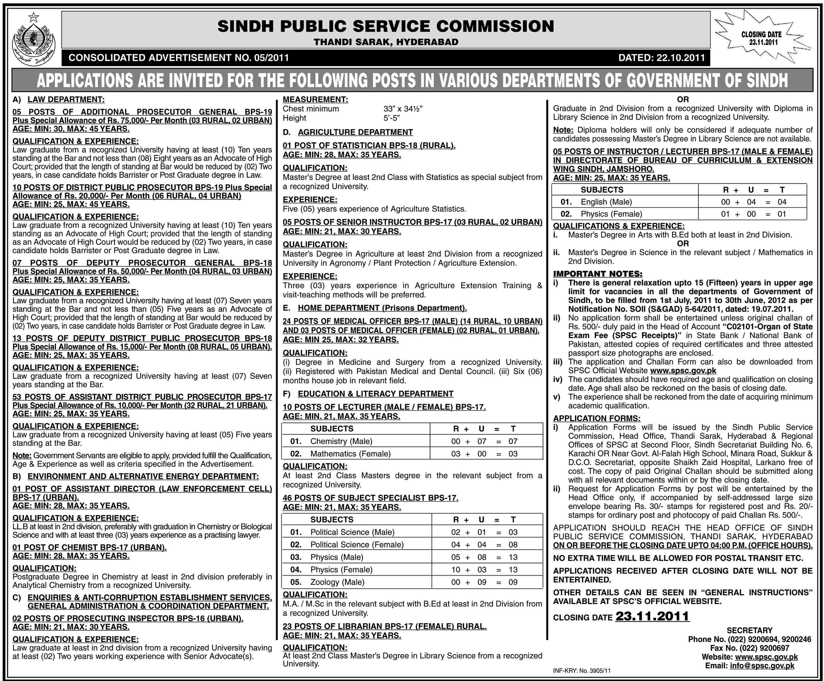 Sindh Public Service Commission Jobs Opportunities