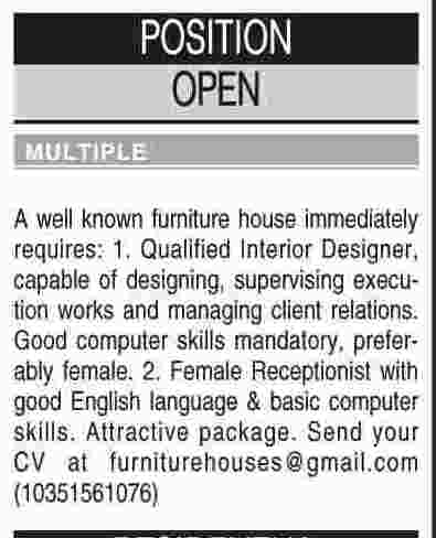 Misc. Jobs in Dawn Classified