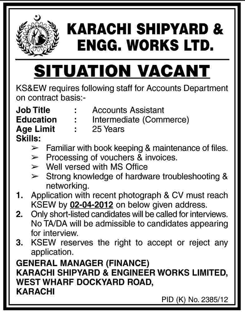 account assistants jobs