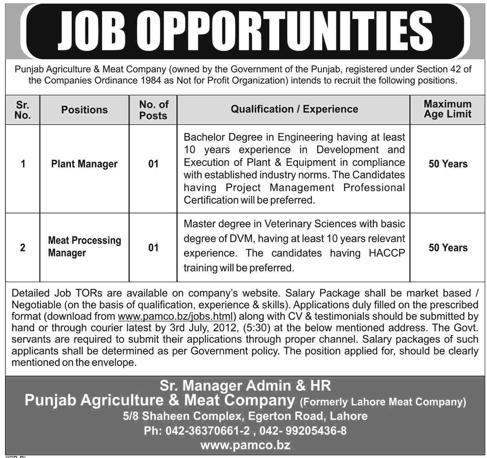 Farming Uk Meat Processing News: Plant Manager And Meat Processing Manager Job At Punjab