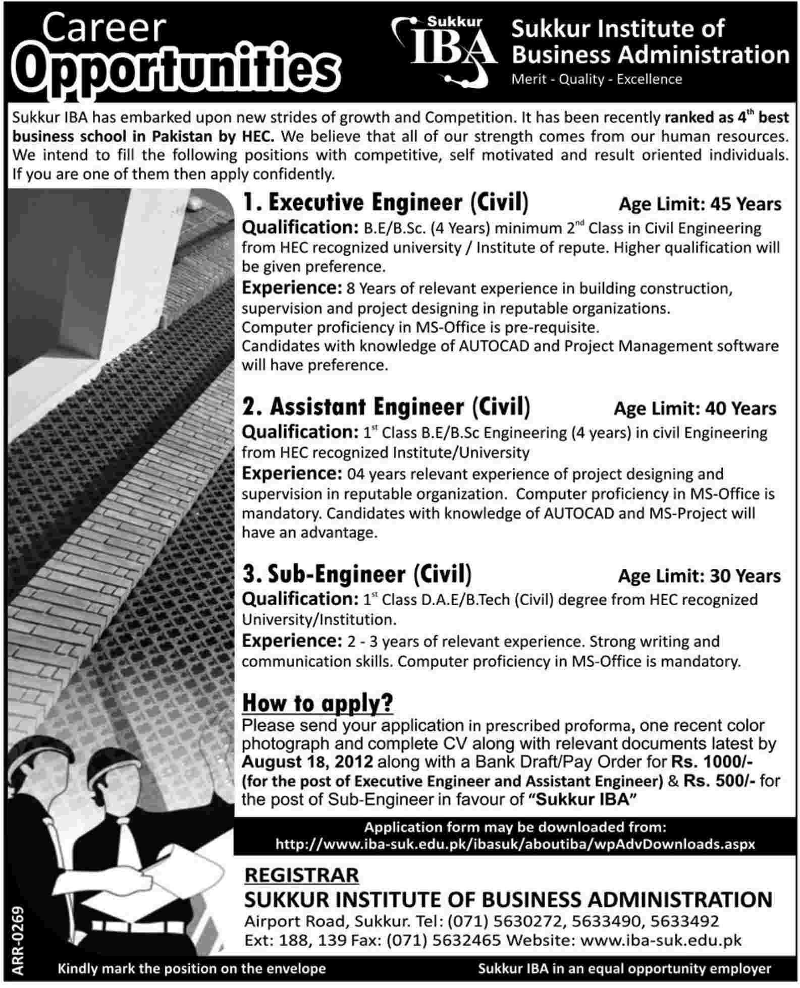 iba institute of business administration sukkur requires civil iba institute of business administration sukkur requires civil engineering staff