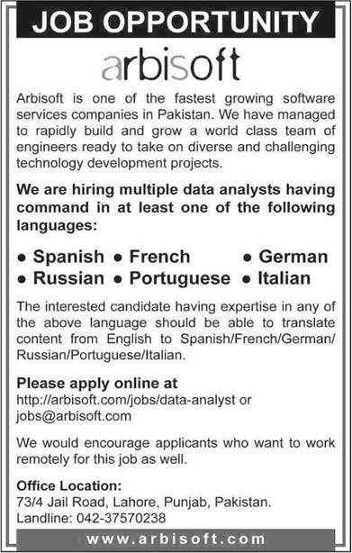 spanish job advertisements