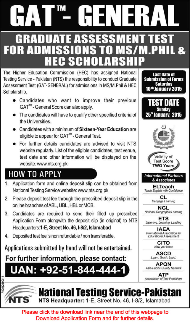 Nts gat general registration form download 2014.