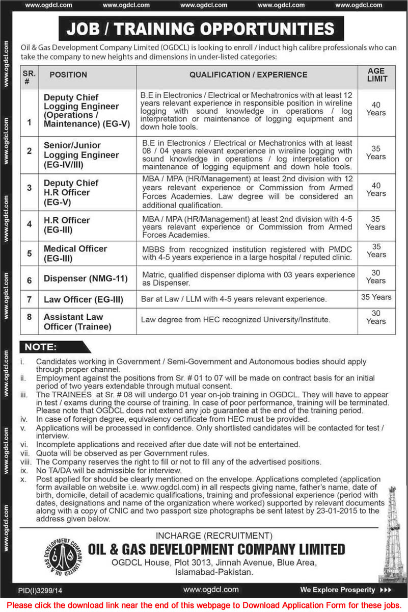 Jobs 2015 Application Form for Engineers, Medical / HR Officers, Law ...