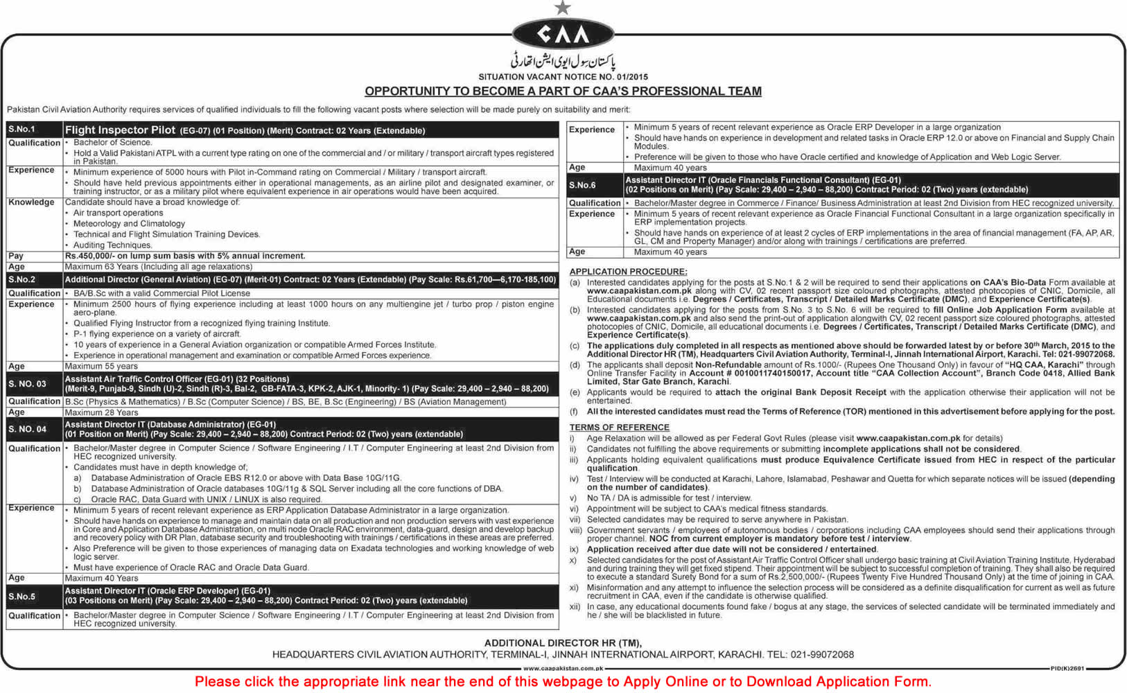 Civil Aviation Authority Jobs 2015 March Assistant Air