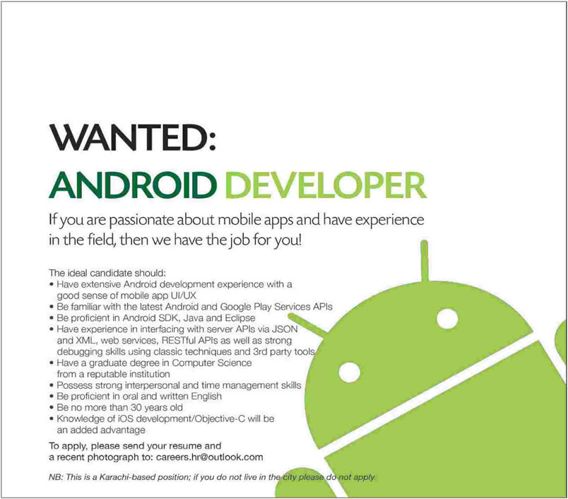 Android developer resume objective