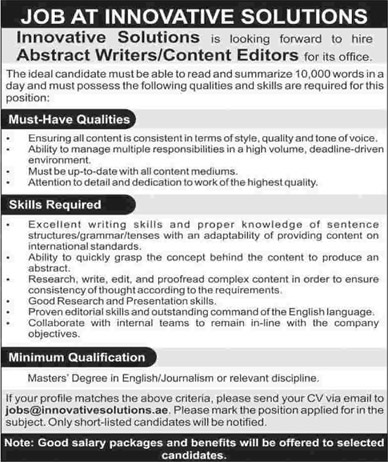 online essay writing jobs in karachi Search and apply online for freelance academic writers jobsin karachi pakistan.