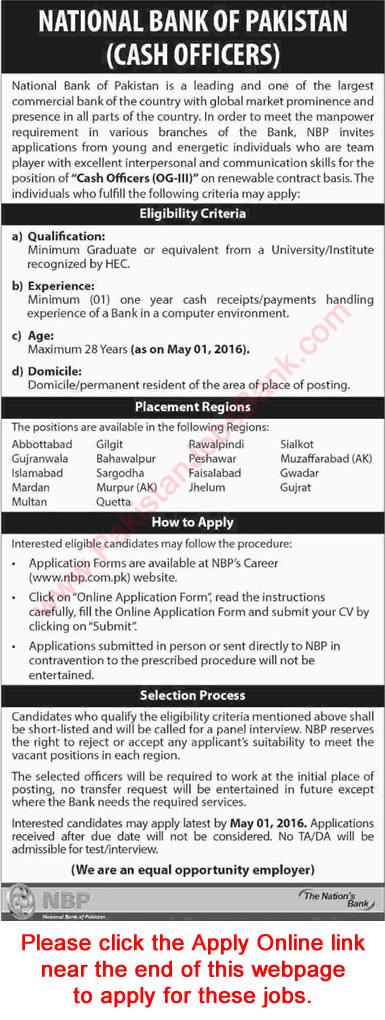 Nbp Jobs April 2016 Cash Officers (Og3) Apply Online National Bank