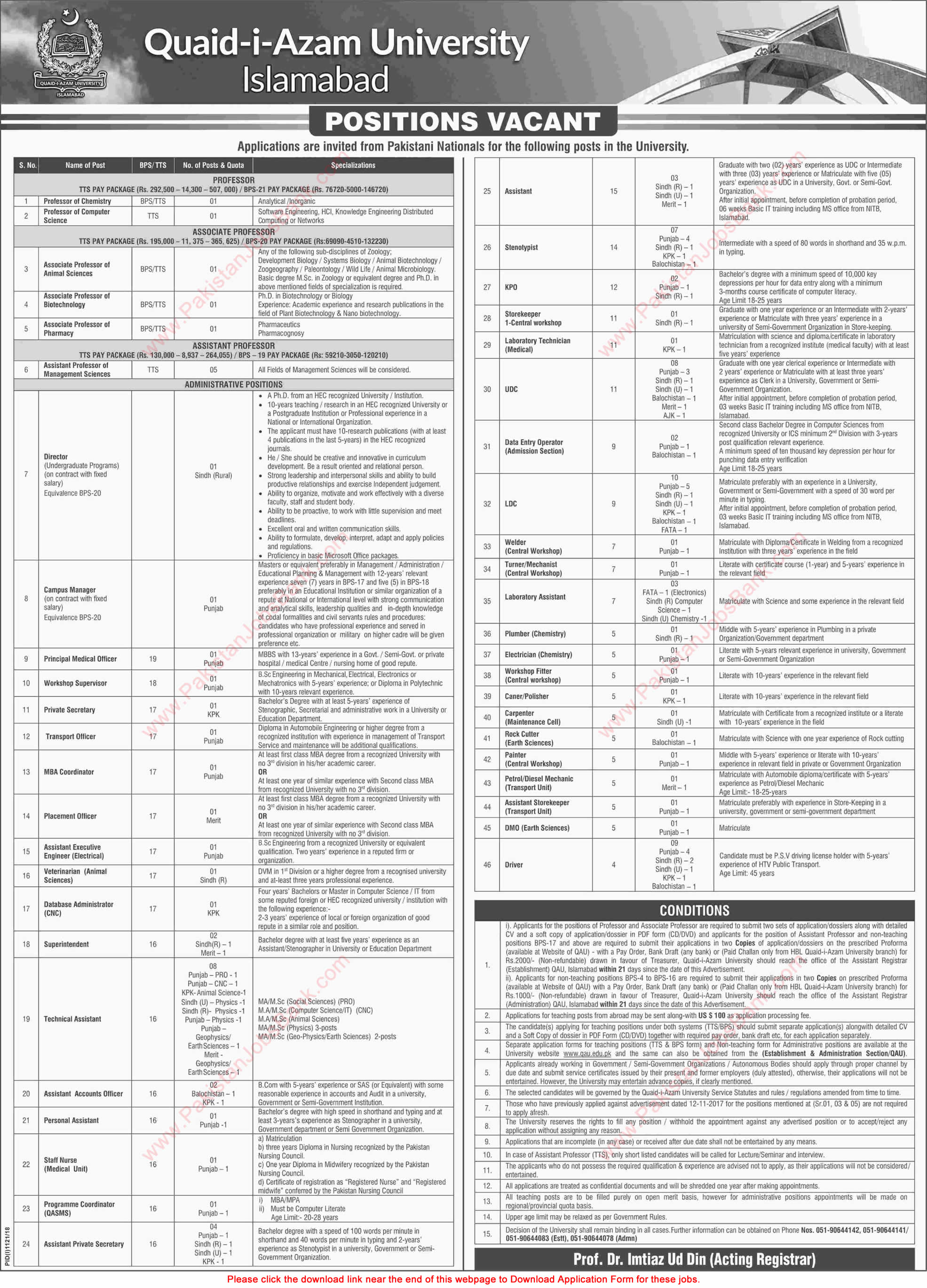 Ad_Dawn_Job_20180909_010 Qau Degree Application Form on dept chmistry, bba department, it department, university logo, islamabad logo, earth science, fee structure for bs, itt dr names, faculty male, dr amena zubari, closing merit, islamabad round area, faculty female,