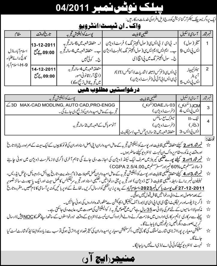Public Sector Organization Required Professionals