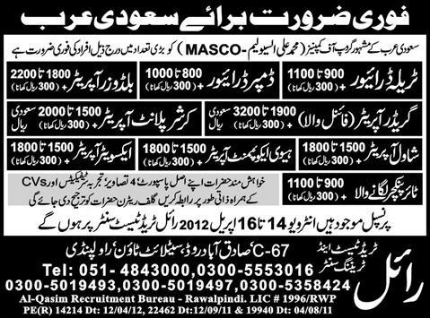 Drivers and Operators Jobs