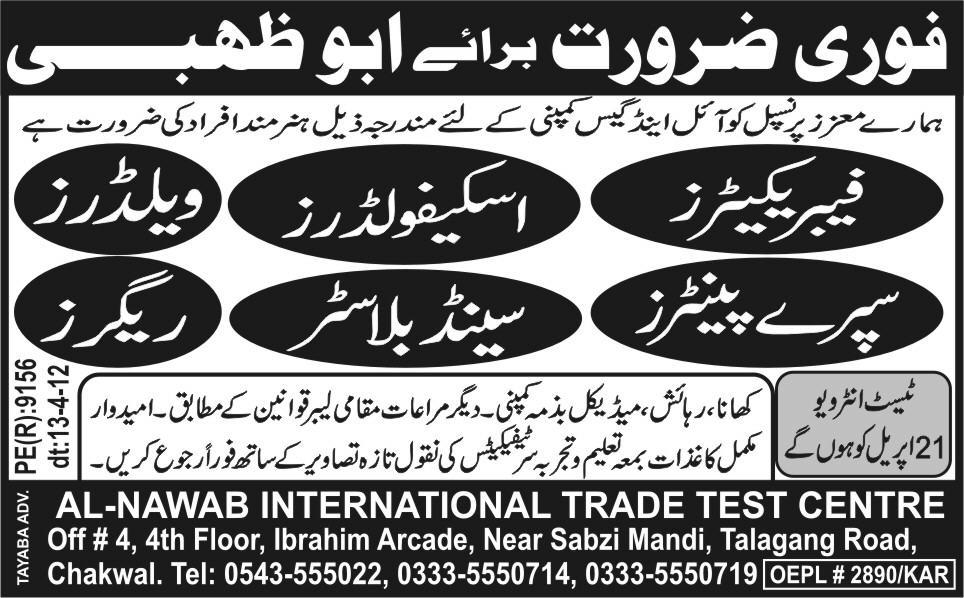 Fabricators, Welders, Painters and Riggers Jobs