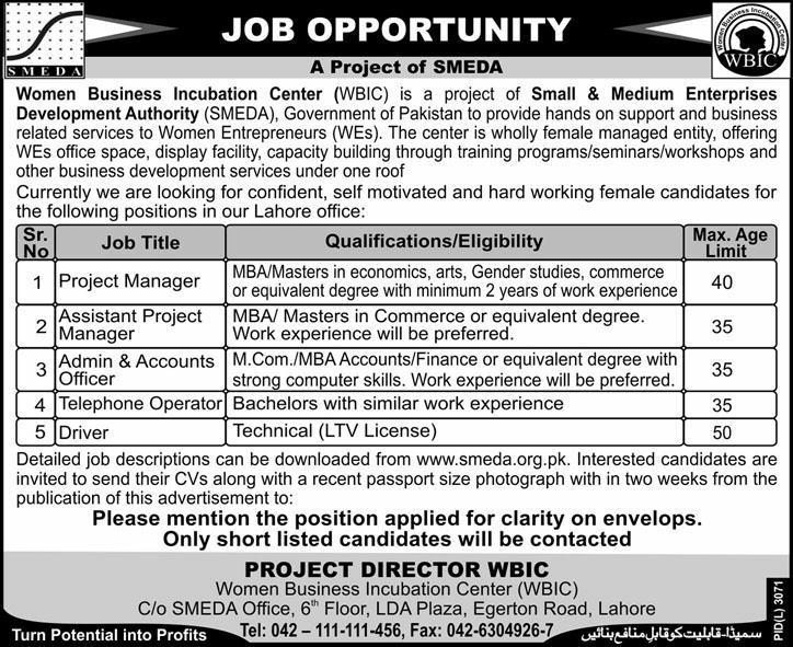 Accounts and Management Jobs at Women Business Incubation ...