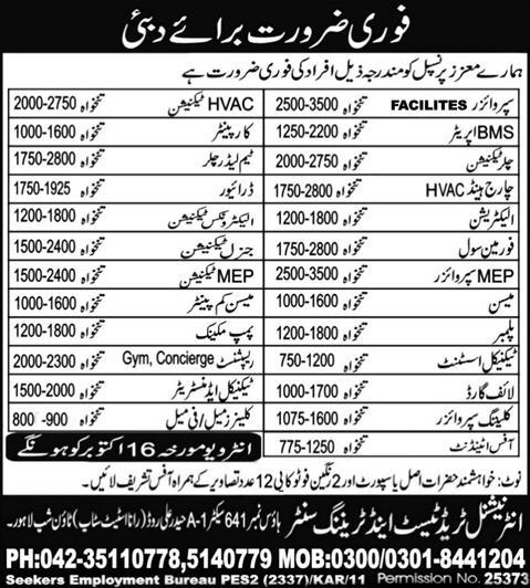 Jobs in Duabi