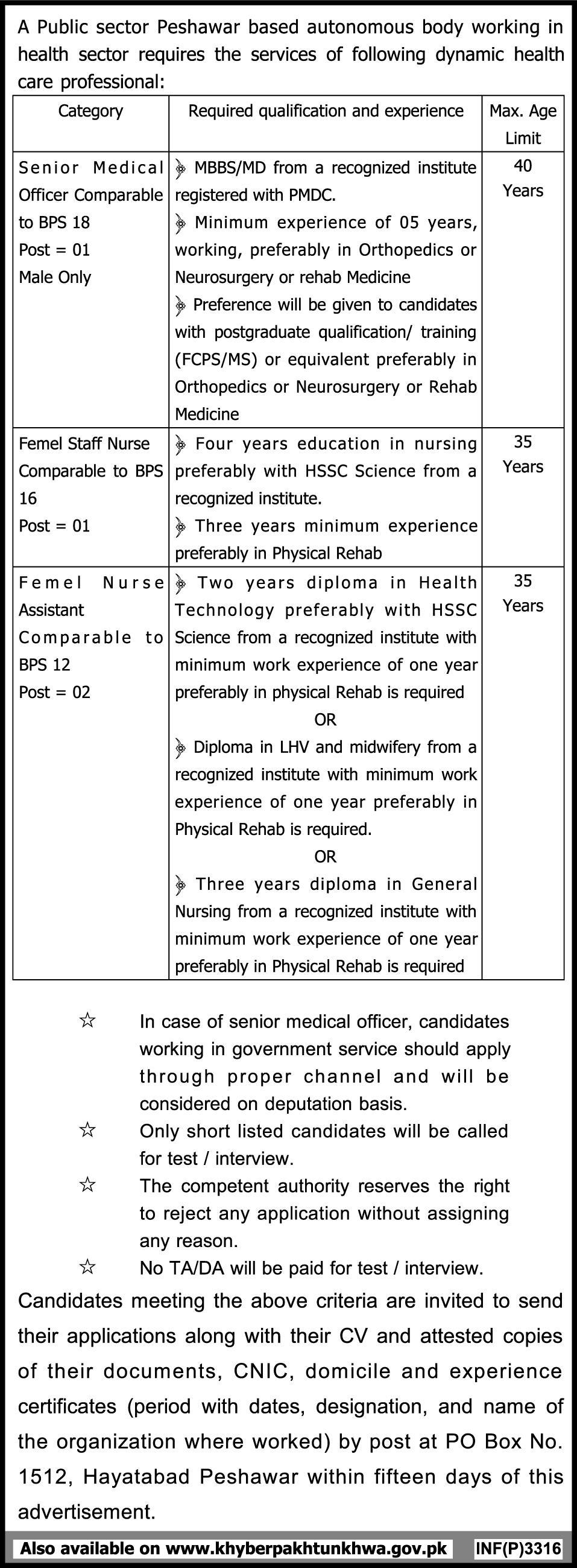 Medical Jobs in Public Sector Organization