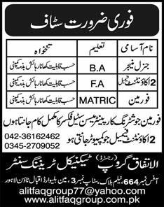 Al-Itfaq Group Technical Training Center Jobs