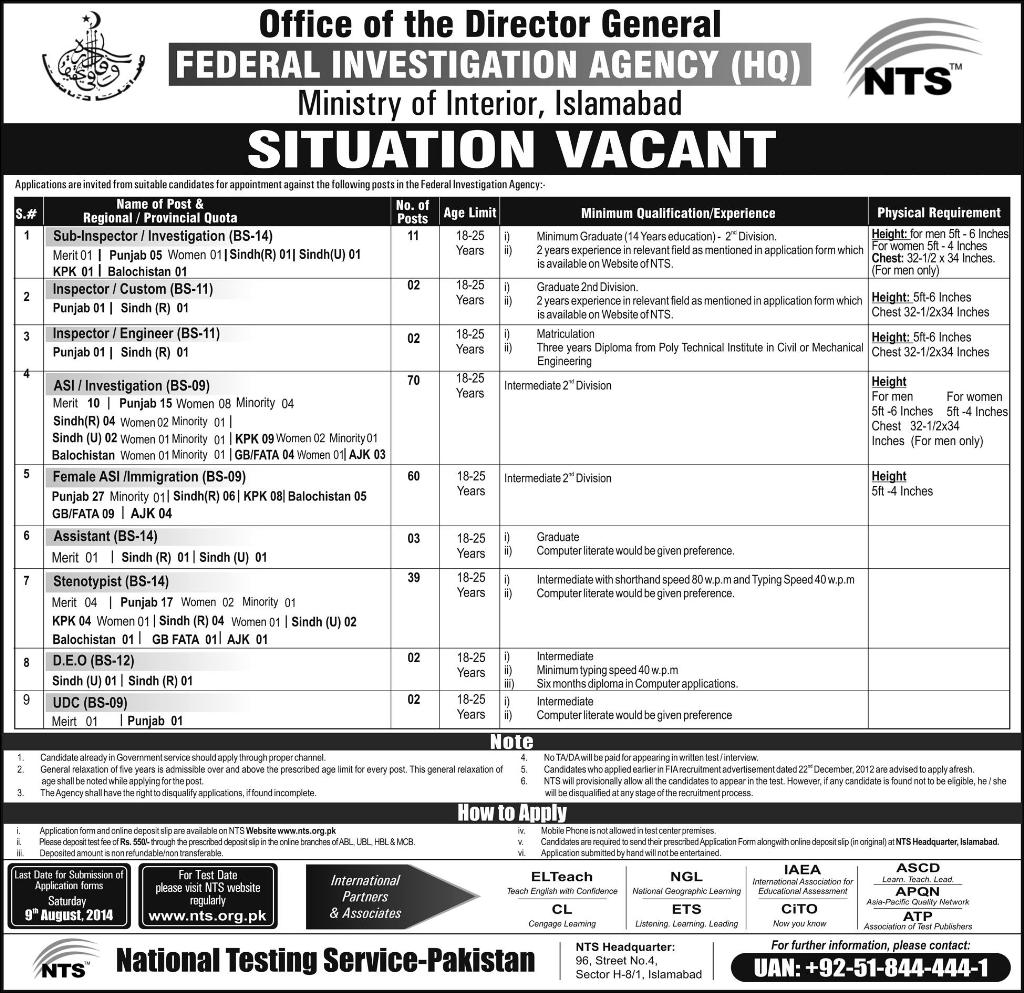 Federal Investigation Agency Jobs 2016 - Best Agency In The Word