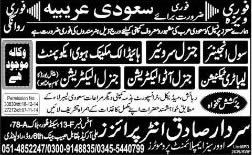 Civil Engineer, Electricians, Technicians & Surveyors Jobs in Saudi Arabia 2015 for Pakistanis
