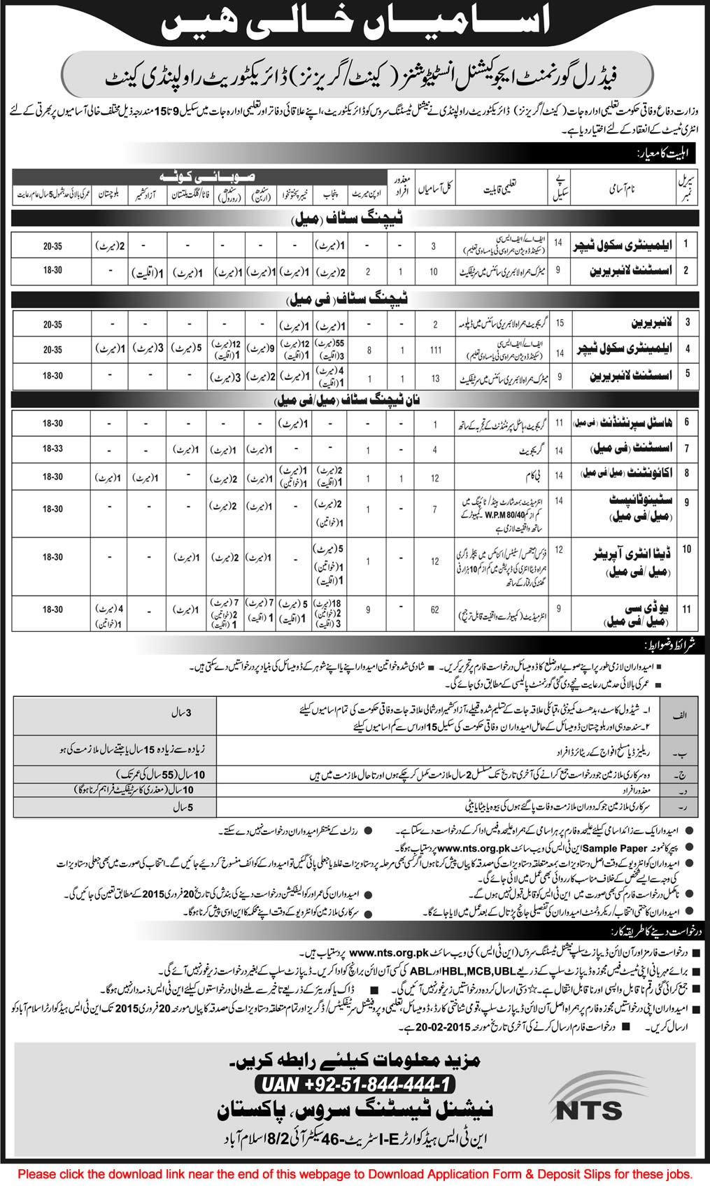 Federal government educational institutions canttgarrisons jobs federal government educational institutions canttgarrisons jobs 2015 fgei cg nts application form falaconquin