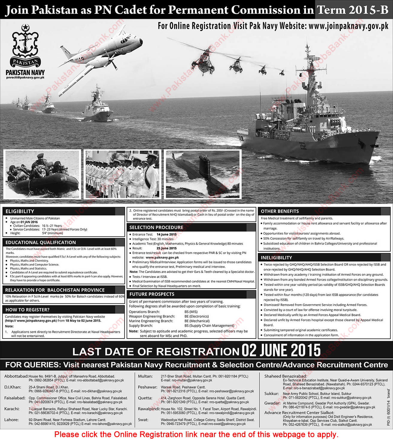 join navy online registration pn cadet permanent join navy 2015 online registration pn cadet permanent commission term 2015 b jobs