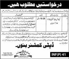 Deputy Commissioner Office Bannu Jobs 2016 KPK for Computer Operators Latest