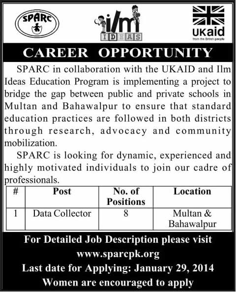 Data Controller Jobs in Multan & Bahawalpur 2014 at Society for the Protection of the Rights of the Child