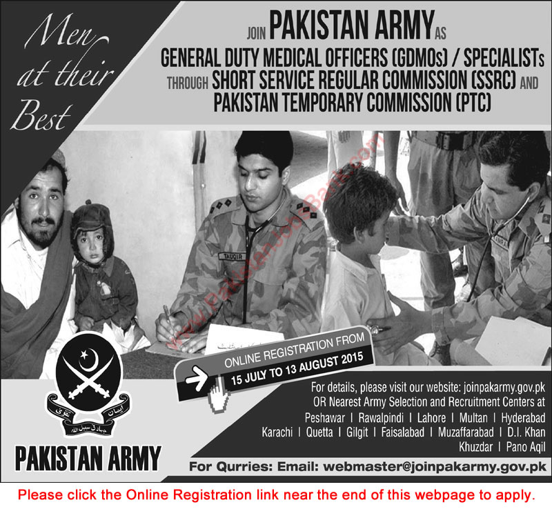 how to become an army doctor in pakistan after fsc
