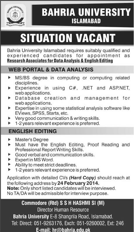Academic writing jobs olx islamabad